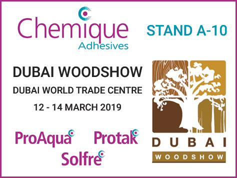 Chemique Adhesives has solutions for all at Dubai Woodshow