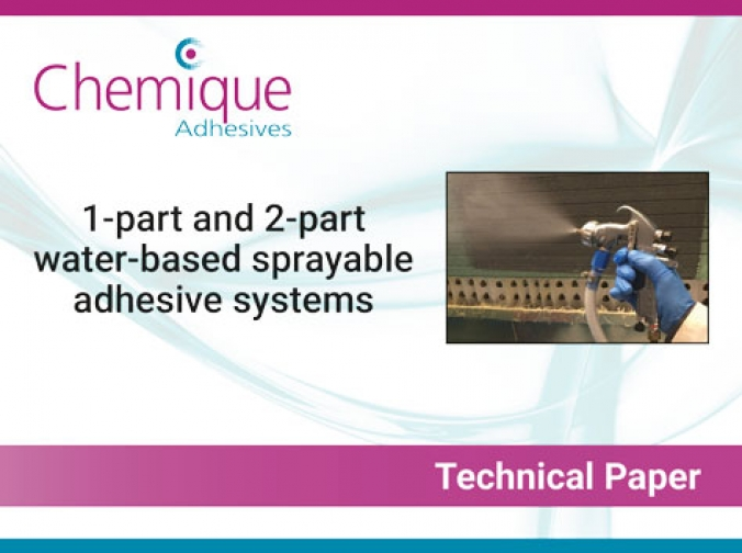 Water-based sprayable adhesives technical paper