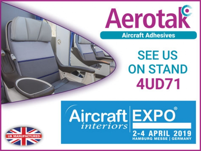 Chemique Adhesives showcases aerospace adhesives at Aircraft Interiors Expo 2019